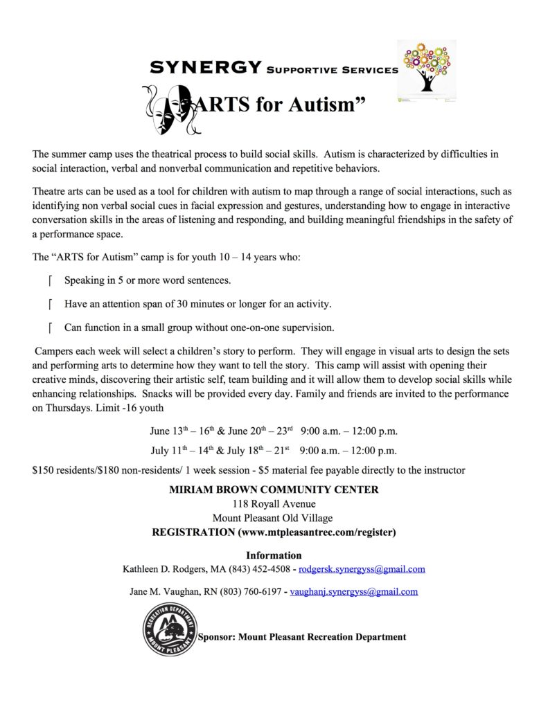 ARTS for Autism flyer