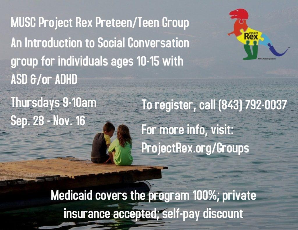 PreTeen Teen Group Social Skills Autism ADHD