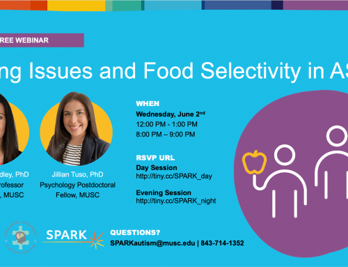 Upcoming Webinar: Eating Issues and Food Selectivity in Autism Spectrum Disorder